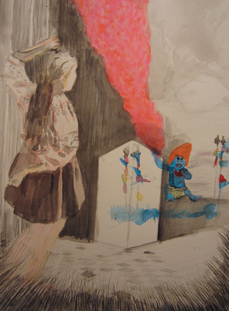 2013 girl watching magic nature force 002_21,5cmx35cm